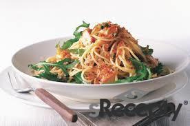 Špagety s lososem, chilli a kapary