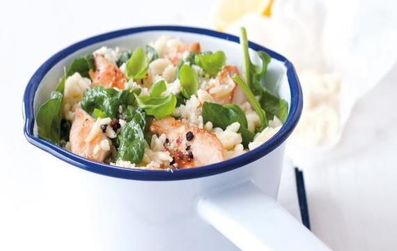 Těstovinová rýže s krevetami