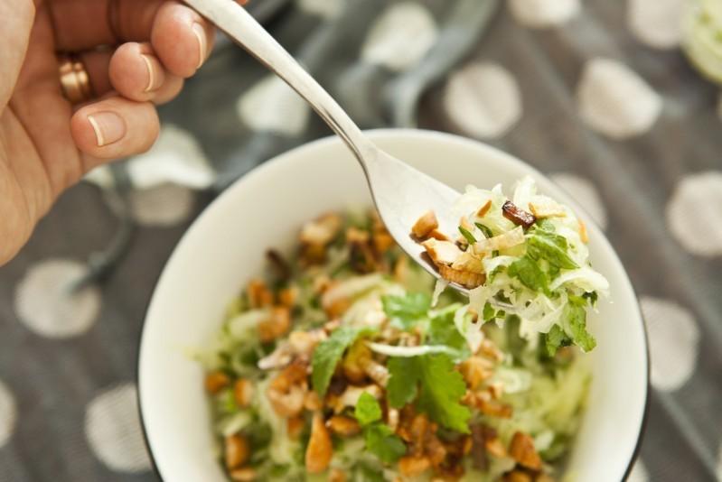 Salát s mangem a papájou