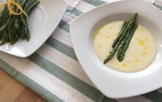 Chřestová polévka s parmezánem