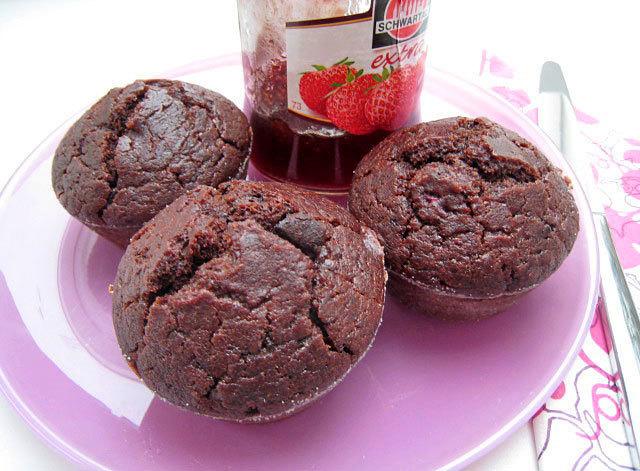 Raw čokoládové muffiny