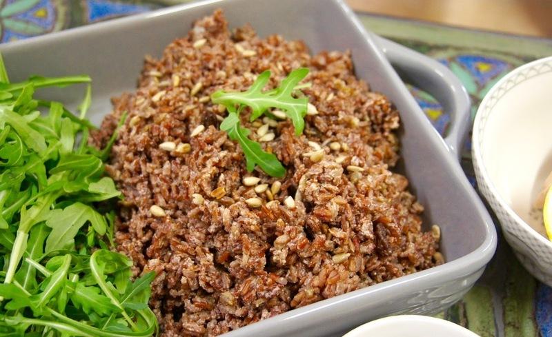 Salát z divoké rýže