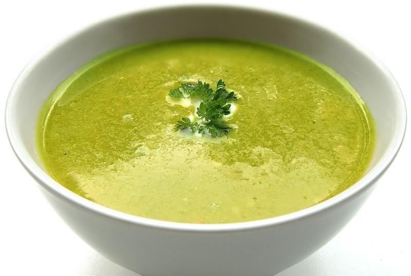 Hráškovo-mátová polévka