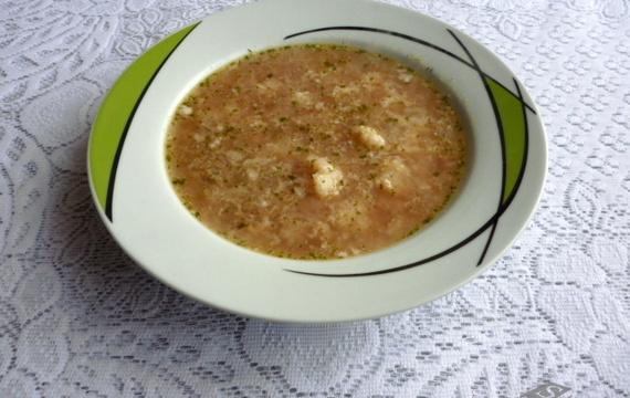 Ředkvičková polévka s květákem