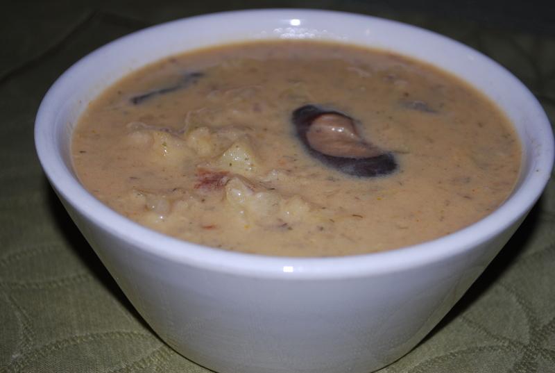 Houbová polévka s kapustou