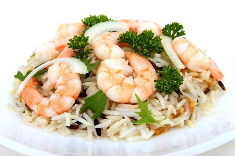 Rýže s krevetami z jednoho hrnce