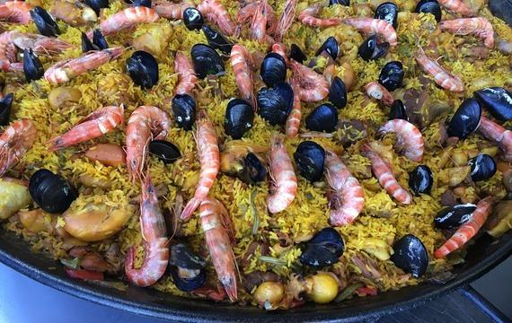 Španělská rýže s mořskými plody