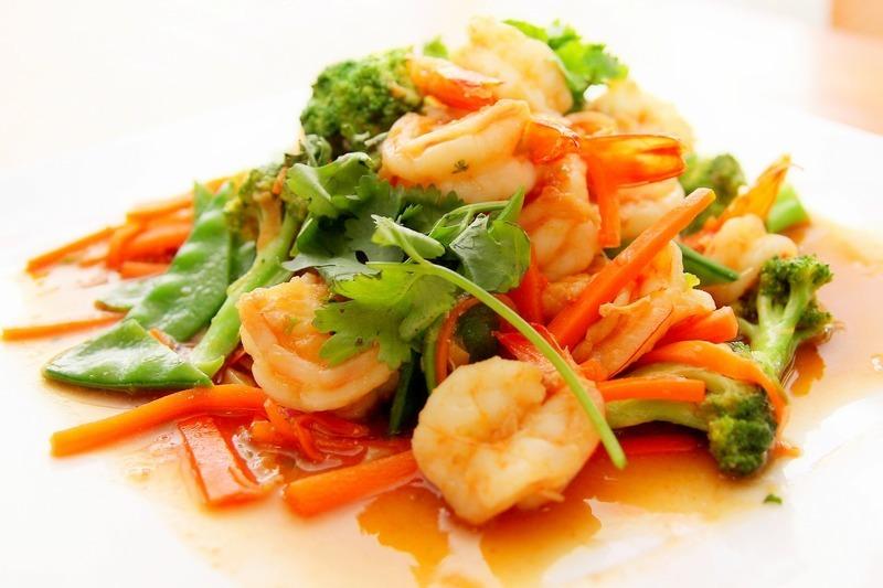 Česnekové krevety s sherry