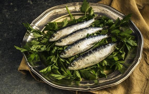 Cibulový koláč se sardinkami