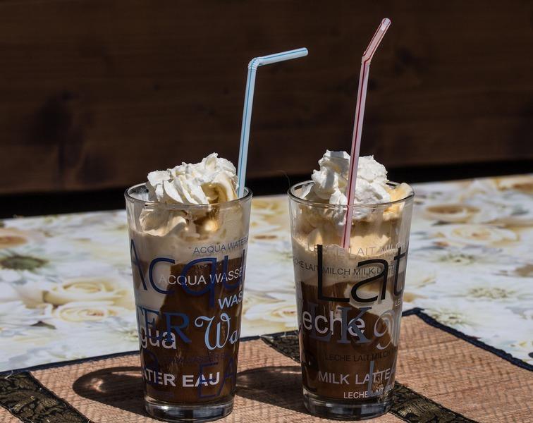 Ledová kokosová káva