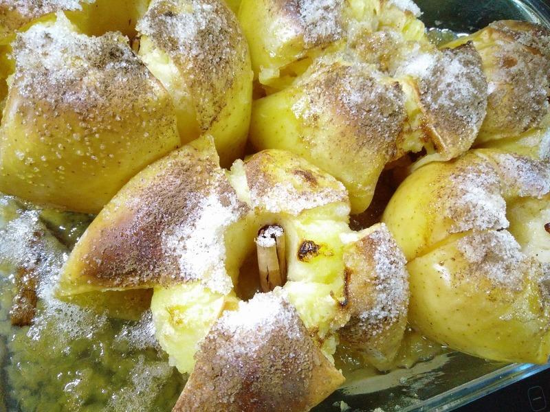 Krém z pečených jablek