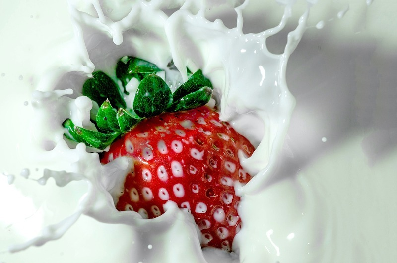 Jogurtovo-jahodové mléko