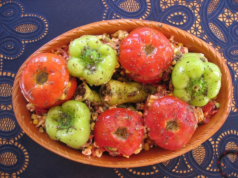 Grilovaná plněná rajčata