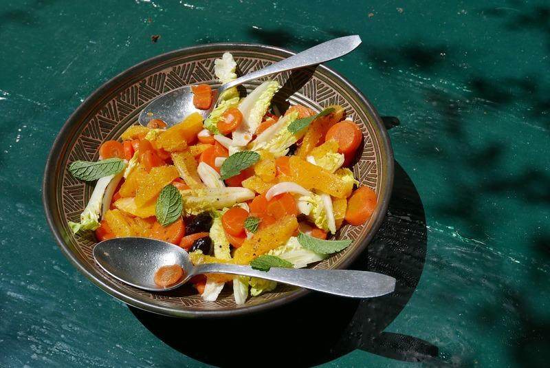 Pomerančový salát s pistáciemi
