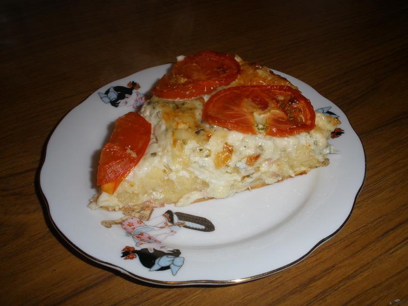 Sýrovobramborový koláč
