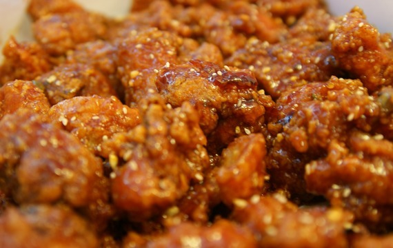 Kuřecí stehýnka obalované v sezamu