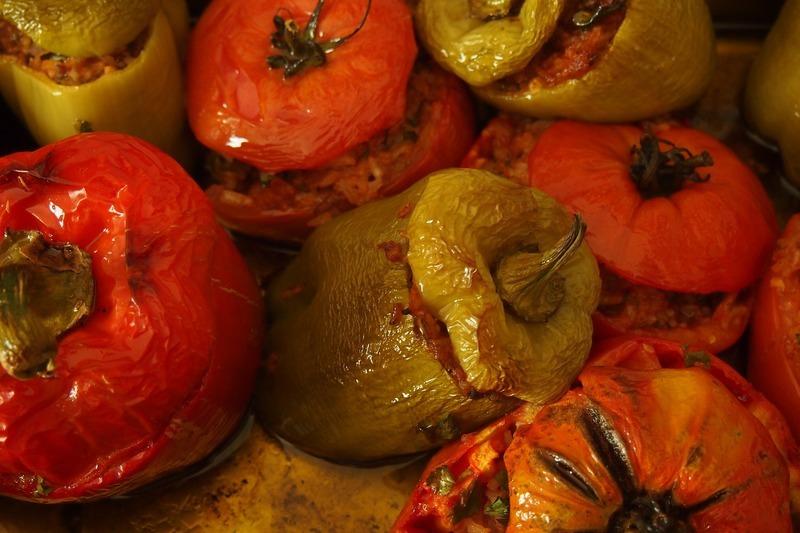 Plněná rajčata na pekáčku