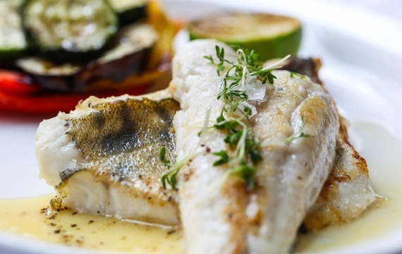 Rybí filety zapečené s cuketou a brambory