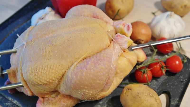 Kuře a la kachna