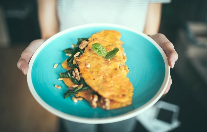 Omeleta s parmskou šunkou