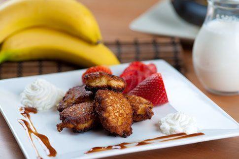 Banán smažený v kokosovém těstíčku