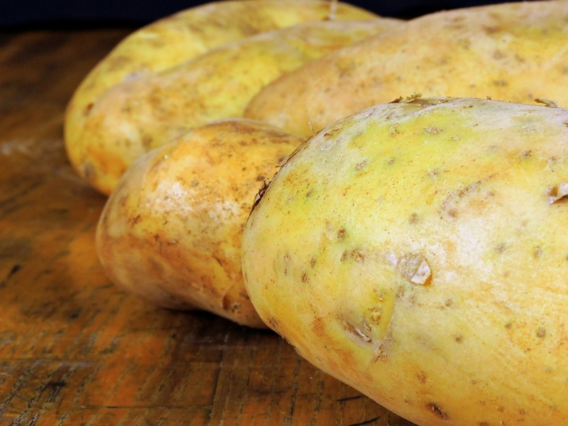 "Zapečené brambory s tvarohem - tzv.""krizovky"""