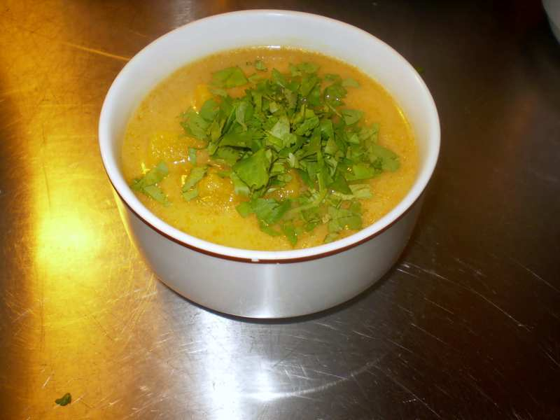 Thajská dýňová polévka