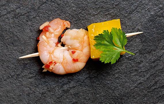 Thajské krevety s mangem