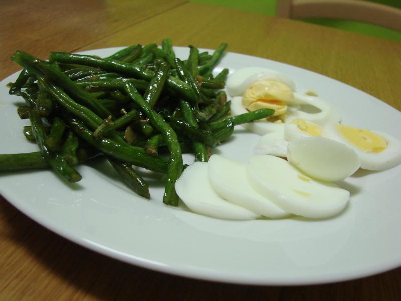 Dietní fazolky s vejcem