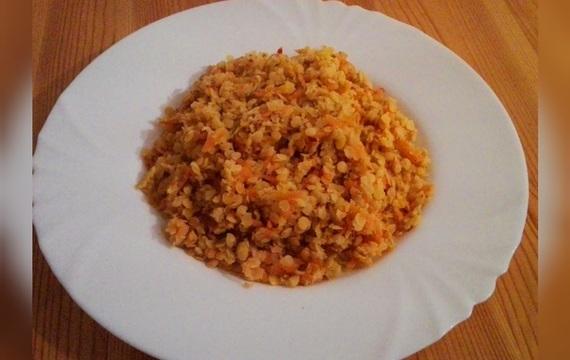 Červená čočka s mrkví