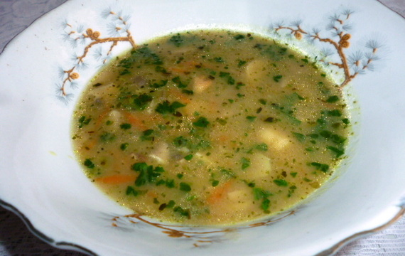 Hustá houbová polévka