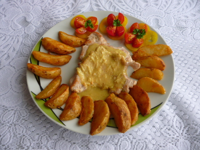 Krůtí plátky s kari a česnekem