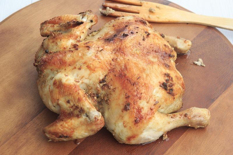 Kuře s hříbky