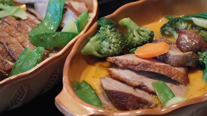 Kachní prsa v zelenině