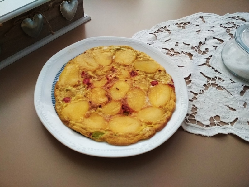 Vaječná omeleta s bramborami