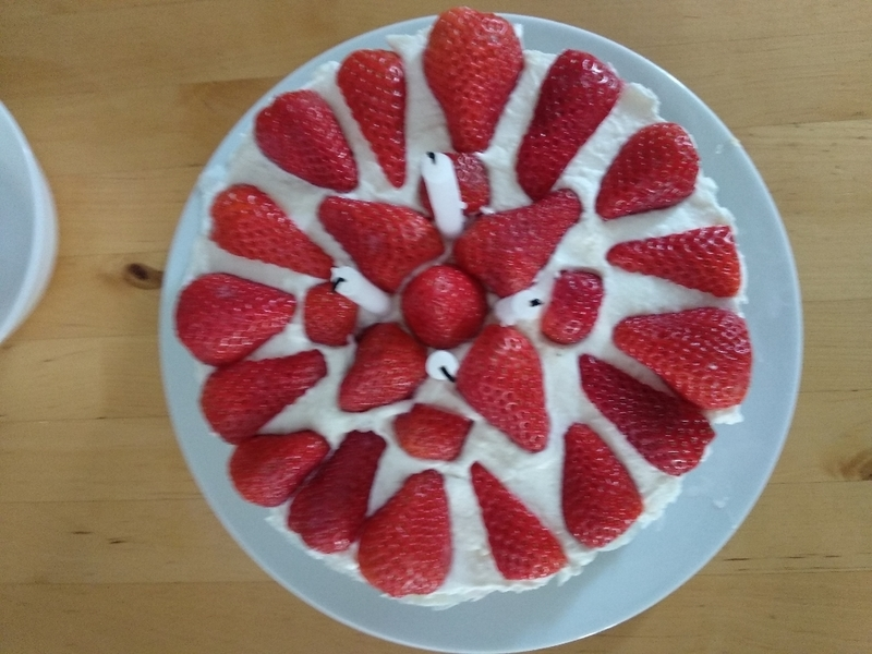 Nepečený tvarohový koláč s ovocem