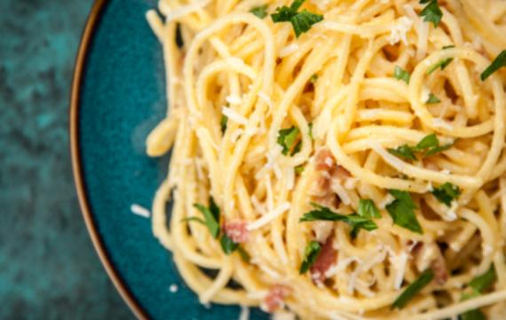 Bon giorno spaghetti carbonara!!