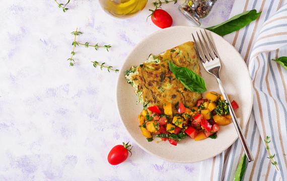 Frittata s mrkví a cuketou