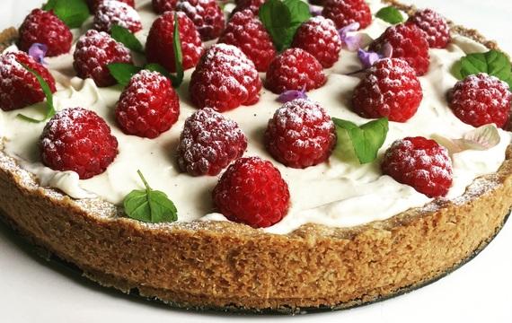 Boží malinový koláč s mascarpone