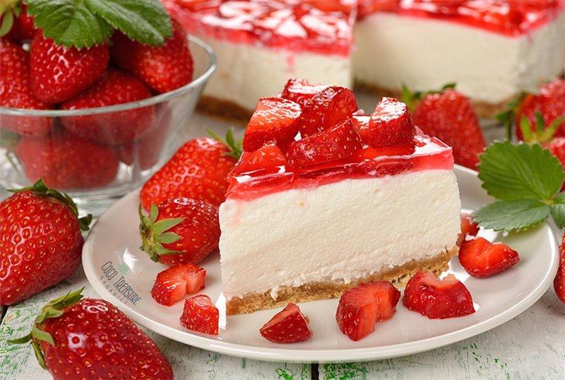 Jahodový dort s tvarohem