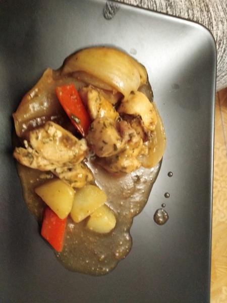 Kuřecí kostky pečené s paprikou