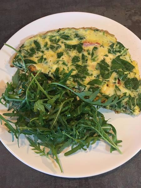 Omeleta s medvědím česnekem