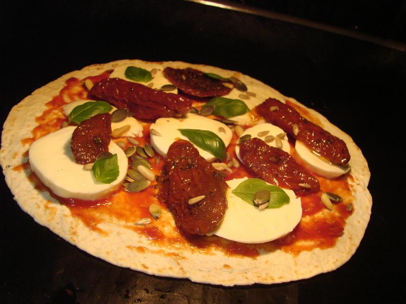 Lehká pizza po česku