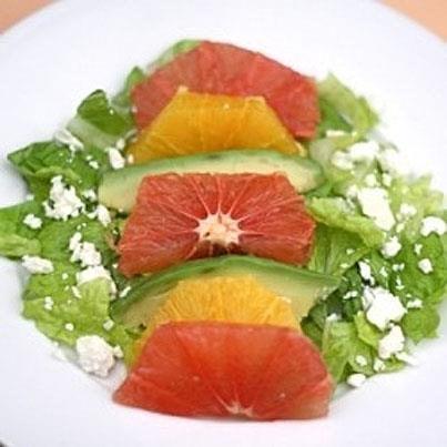 Ovocný salát s feta sýrem
