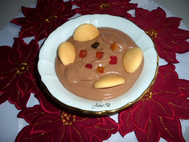 Čokoládový tvaroh se smetanou