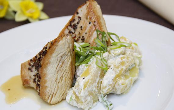 Krůtí prsíčko pečené s glazurou z javorového sirupu