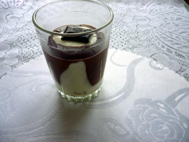 Čokoládový pudink se smetanou